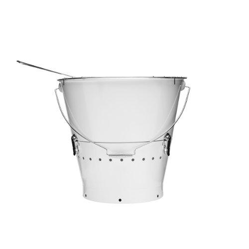 Sagaform 5016670 - BBQ Grilleimer , weiß - (Ø x H): 38 x 37 cm