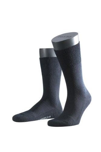 FALKE Herren Socke 14403 Airport Plus SO, Gr. 47/48, Blau (dark navy 6370) (Navy Wolle Socken)