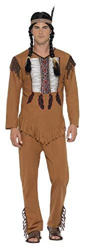 Wilde Krieger Kostüm - Fancy Me Herren-Kostüm Indianer, Indianer, Wilder West, Cowboys und Indianer, Gr. S-XL