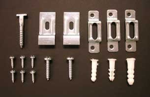 Picture Frame Security Hardware Complete Sets for Wood or Metal Frames up to 60 Wide - Complete Set with Wrench by Security Hangers -