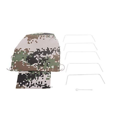 Camouflage Printed Canvas RC Truck Auto Haube Abdeckung für WPL B-24 1/16 RC Militar Auto Rock Crawler RC Autoteil - Schwarz