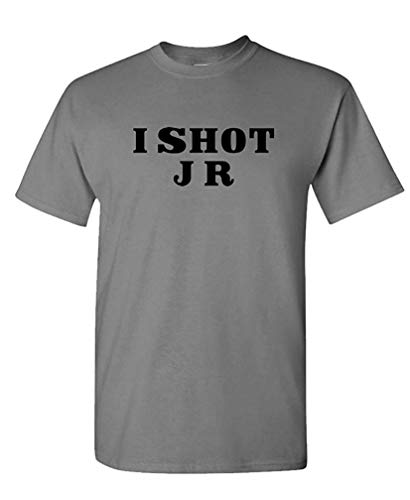 - I Shot JR - Retro 80's Vintage tv Show - Mens Cotton T-Shirt M - Vergnügen, Kokosnuss