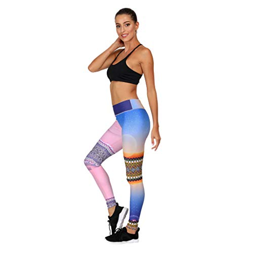Damen High Waist Workout Bauchkontrolle Yoga Leggings, Fitness, Sport, Gymnastik, Laufen, 4-Wege-Stretch-Sporthose S rose -