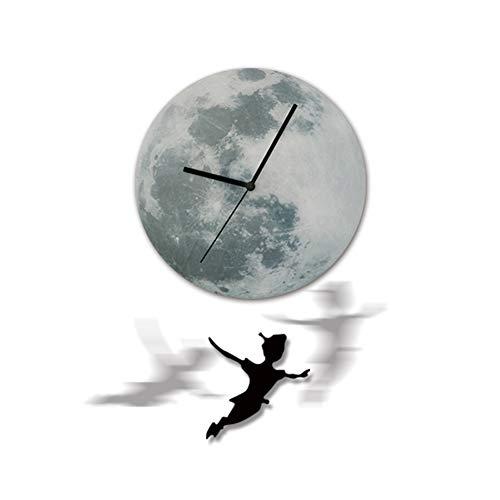 ZhangXF Anime Zeichen Luminous Moon Luminous Wanduhr, Einfache Acryl Material Exklusive Wanduhr, Metall Zeiger Stumm Büro, Schlafzimmer, Wohnzimmer Dekoration Uhr Halloween Einzigartiges Geschenk
