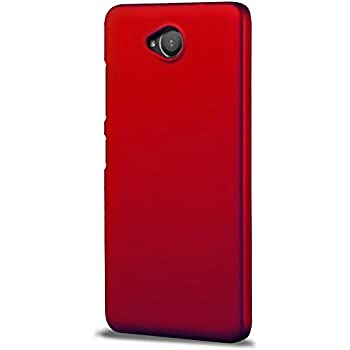 Case Creation TM New Premium Quality Imported Exclusive Matte Rubberised Finish Frosted Hard Back Shell Case Cover Guard Protection for Microsoft Lumia 650 / Nokia Lumia 650 Dual Sim Color - Red