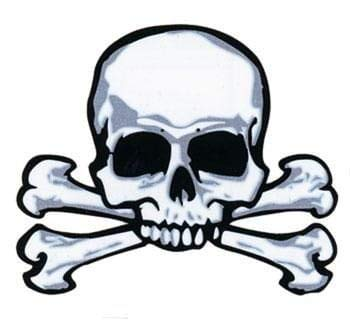Piraten Tattoo Skull & Bones (Sparrow Captain Jack Halloween-make-up)