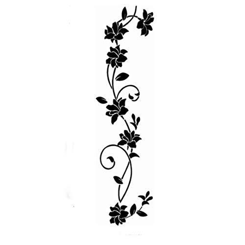 Faliya DIY Black Flower Reben Wandaufkleber Kühlschrank Fenster Schrank Wohnkultur Dekorative Wohnzimmer Aufkleber Wandbild Poster Kunst Wandaufkleber