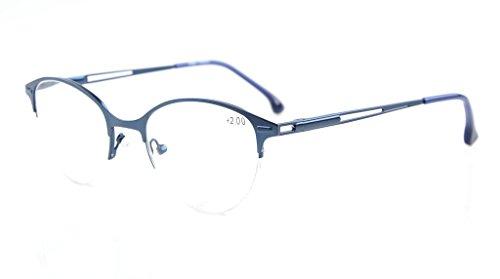 Eyekepper Qualität Federscharniere Half-Rim Cat-Eye Stil Brillen Blau