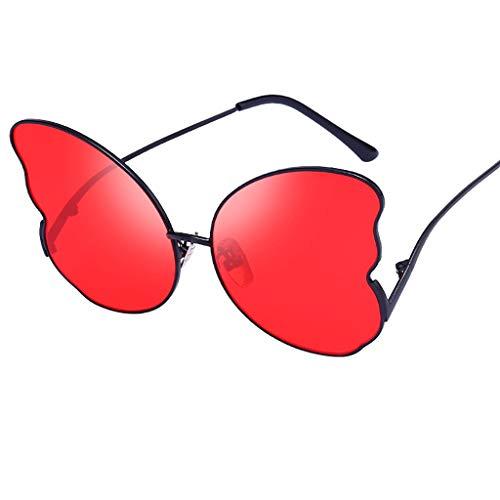 Frauen Sonnenbrillen Mädchen Modische Brillen Schmetterling Form Design Gute Qualität Strand Brille Match Strandhüte(rot,free)