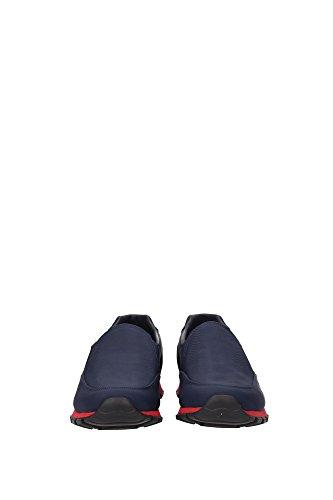 4D2805OLTREMARESCARL Prada Sneakers Uomo Tessuto Blu Blu
