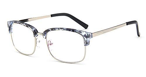 Keephen Gemütlich Fashion brillengestell männlich 2975 metall halbrahmen gläser rahmen weiblichen studenten retro brille rahmen spiegel (kein grad)