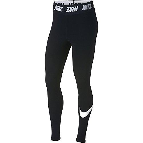 Nike Damen Sportswear Club High-Rise Leggings, Black/White, M (Coole Nike Leggings Für Frauen)
