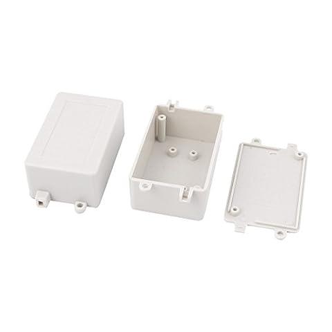 sourcingmap® 2pcs boîtier plastique interrupteur électronique DIY boîtierJunction Box 70x45x30mm