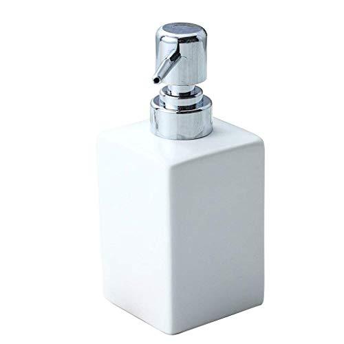 SOAP-P Handseifenspender Einfache Flüssigkeitsspendeflasche Keramische Presslotion (Farbe : Weiß)