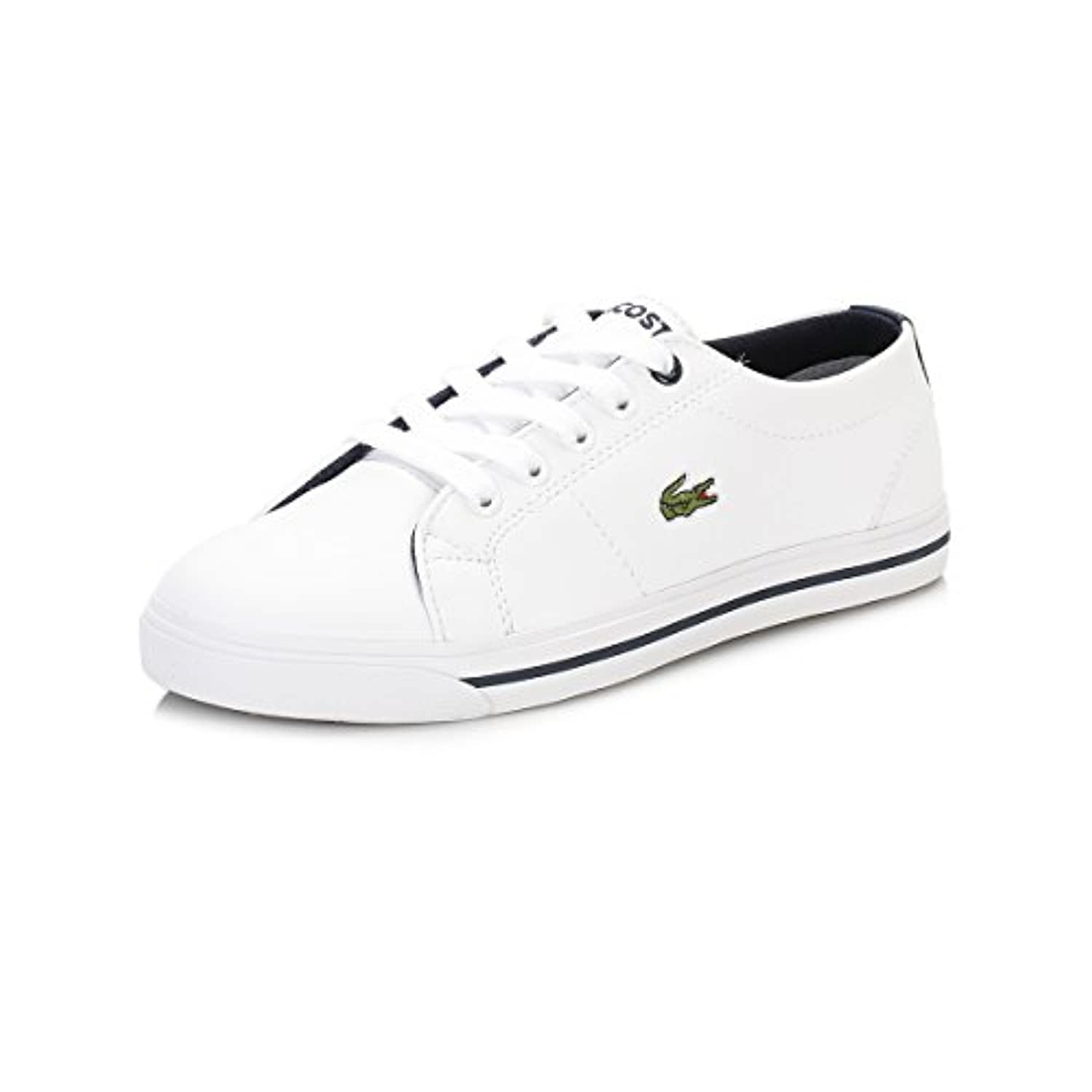 Lacoste Kids White/Navy Marcel 117 1 CAC Trainers-UK 1