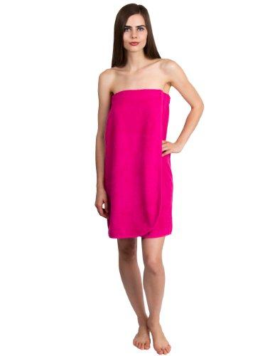 TowelSelections Damen Wrap, Dusche & Bad, Frottee-Spa-Handtuch, hergestellt in der Türkei - Pink - Small (Für Die Frau Handtuch Türkisches)