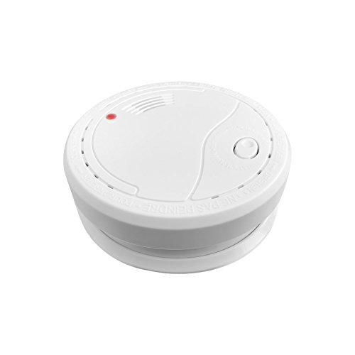 Siter GS503 Rauchmelder mit 10 Jahresbatterie. Fotoelektronischer Rauchwarnmelder/Brandmelder nach DIN EN 14604 mit 85dB Alarm Weiß