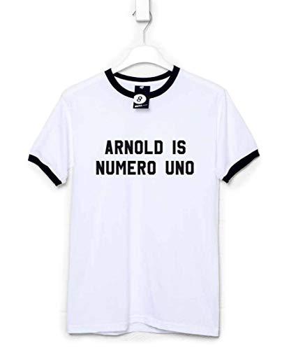 Refugeek Tees - Herren Numero Uno T Shirt - XX-Large - White & black ringer