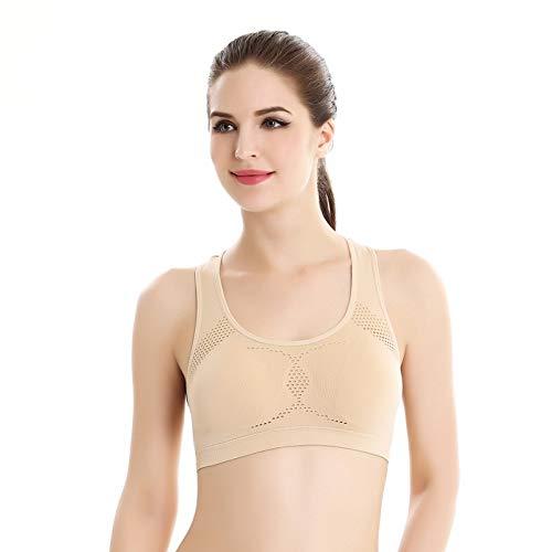 Dkny-stretch-bhs (Fygrend - Frauen Workout Stretch Tank Top Yoga Padded Vest Sport-BH Tops schulterfrei Sport-BH [M Skin])