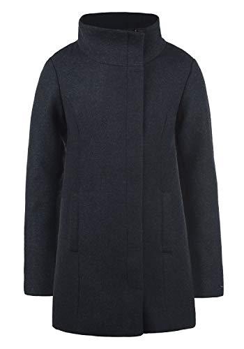 DESIRES Wolke Damen Winter Jacke Mantel Wollmantel Winterjacke mit Stehkragen, Größe:XXL, Farbe:Insignia Blue Melange (8991)