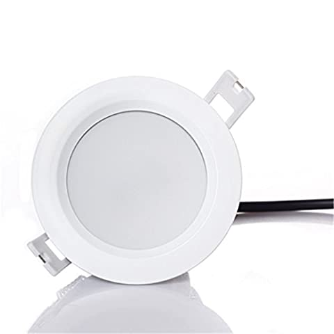 PRODELI LED Recessed Downlight IP65 Waterproof LED Ceiling Lamp for Bathroom Kitchen Lighting Round 15W AC85-265V 3000K Warm White