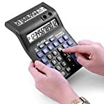 SaleOn™ Standard Function Desktop Business 12 Digital Dual Screen Double Display Calculator with Pen Holder for Office...