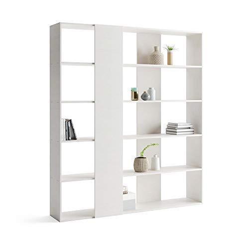 Mobili Fiver, Bücherregal Rachele, Laminat weiße Esche, 179 x 33 x 204 cm -