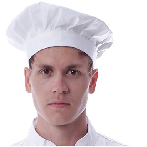 Aisoway Unisex-Chef-Hut Mit Gummizug Kochmützen Bakers Caps Bequeme Haltbare Weiche Kitchen-Kappe Für Männer Frauen (Sushi Koch Kostüm)