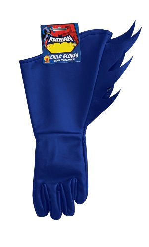 (Blue Child Batman gauntlet gloves Costume Accessory for Kids)