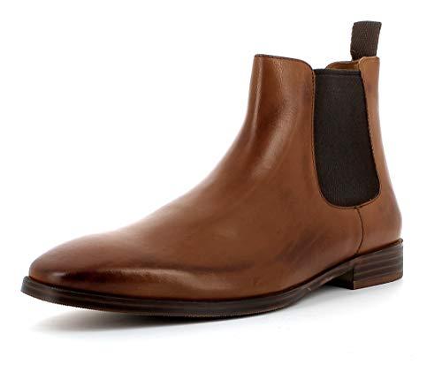 Gordon & Bros Herren Chelsea Boots, City S181837 Männer Stiefel,Halbstiefel,Bootie,Schlupfstiefel,flach,Cognac,42 EU / 8 UK - Flache Booties