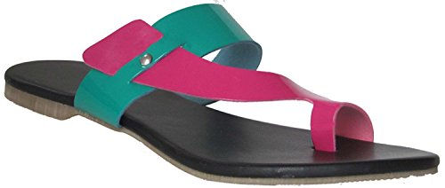 Fancy Kolhapuri Chappal For Women |Colorfull Black Kolhapuri Chappal | chappal | footwear for ladies | flats | slipper for women  available at amazon for Rs.299