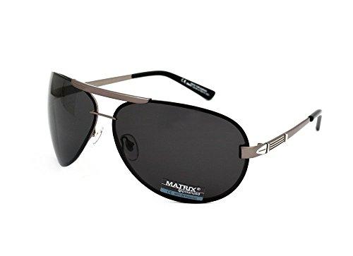 294e806fa3 Matrix Aviator XL Polarized Sunglasses for Drivers - Big Size - No Glare Grey  Lenses - Buy Online in UAE.