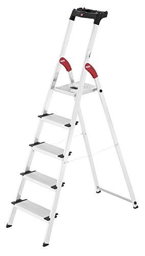 Hailo xxl easyclix - Escalera domestica xxl 5 peldaños 168cm aluminio
