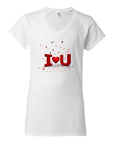 ) Slim Fit V-Ausschnitt T-Shirts Gr. XXL, Weiß - Weiß (Cupid Ausschnitte)