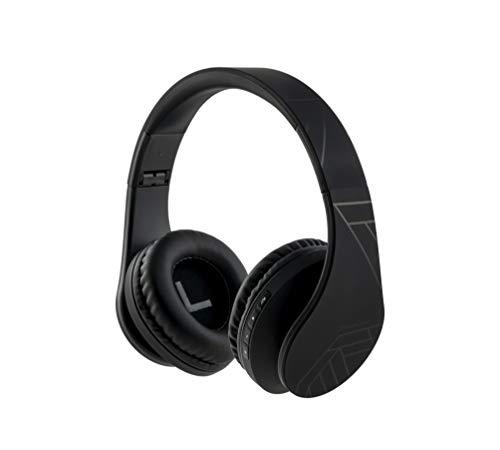 PowerLocus Bluetooth Over-Ear Kopfhörer, Kabellos Stereo Faltbare Kopfhörer Kabellose und Kabel-Kopfhörer mit Integriertem Mikrofon, Micro SD/TF, FM für Handys/iPad/Laptops & PC (Schwarz)