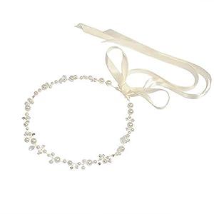 TOPQUEEN Accessoires braut Gold Perle Strass Braut Haarkamm Hochzeit Haarschmuck Tiara Diadem, Schmetterlinge (HP03-G-WT)
