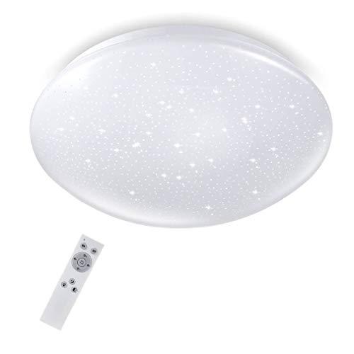 LED Deckenleuchte dimmbar 18W mit Sternen-Dekor, Tonffi LED Deckenlampe Farbtemperaturen und Helligkeit einstellbar mit Fernbedienung für Kinderzimmer Schlafzimmer