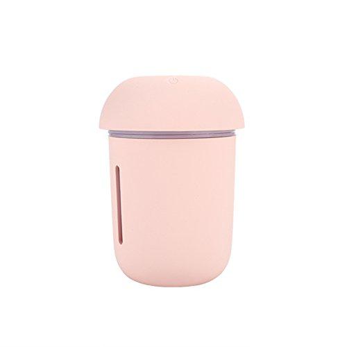 3 en 1 Multi-Fonctionnelle USB Charge De Voiture Purificateur d'air Compteur d'eau Fan Veilleuse Champignon Humidificateur (Rose)