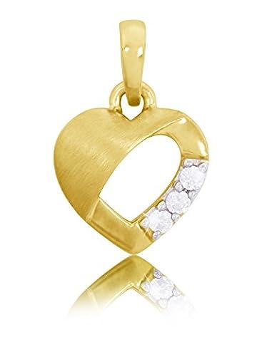 MyGold–Pendentif Femme (sans chaîne)–Or jaune 333Cœur 3oxydes de zirconium enfants Sweet Valentine v0010822