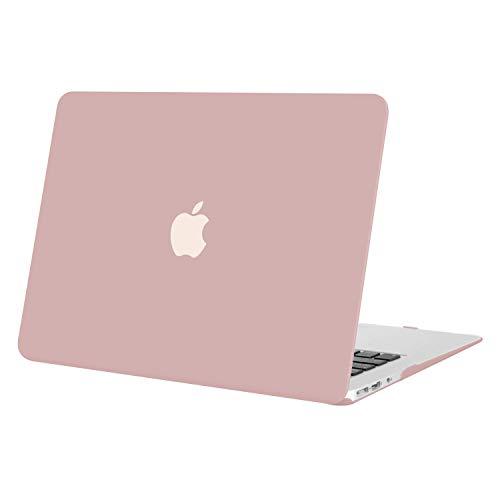 MOSISO Hülle Kompatibel mit MacBook Air 13 Zoll - Ultra Slim Hochwertige Plastik Hartschale Schutzhülle Kompatibel mit MacBook Air 13 Zoll (A1369 / A1466, 2010-2017 Version), Rosenquarz