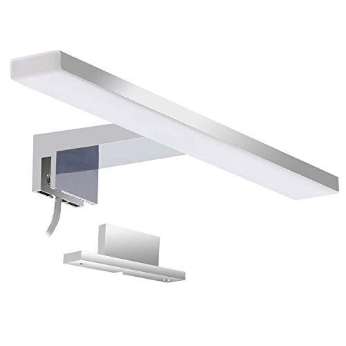 Led lampada da specchio 5w aourow,specchio armadio lampada da bagno,luce per trucco,lunghezza 30 cm,bianco neutro 4000 k, 230 v ip44,500lm