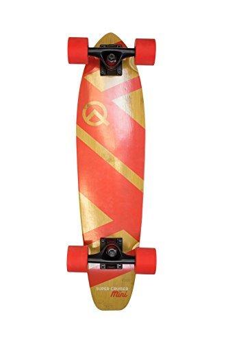 Quest Skateboards Quest Super Cruiser MINI Cruiser Skateboard, Red, 27 by Quest Skateboards