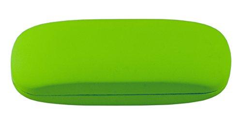 Brillenetui für Damen und Herren – Hartschalen Etui inkl. Mikrofasertuch für Brillen und Sonnenbrillen – Hardcase Etui Modell: Wales (Grün)