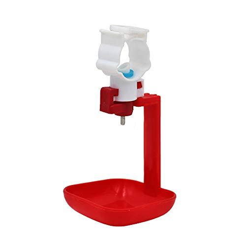 LYY 100PCS Buckle Cup Integrierter Geflügel-Automatische Trinkbrunnen, Chick Duckling Edelstahl-Bruck-Nippel-Trocknungsgeräte, detachbar,awhole