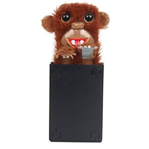 LoveOlvidoE Juguetes innovadores Sneekums Pet Pranksters Tricky Funny Fur Fur Plastic Pet Sorpresa Juguetes Pop Up Spoof Monkey para niños