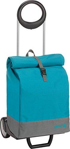 Gimi 157764 Einkaufstrolley Marine Blau, Stoff, 16.5 x 102 x 38.5 cm, petrolblau