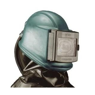Strahlhelm Commander mit Kunststoff-Umhang