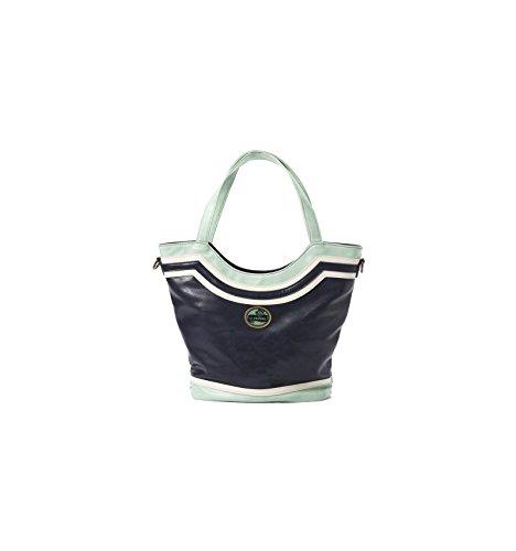 Sac Shopping Lili Petrol Bleu JUDE Similicuir JU31 CAMEL