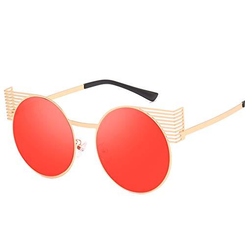 Junecat Frauen Männer Persönlichkeit Runde Sonnenbrille Metallrahmen Mädchen Jungen Brillen Brillen UV400 Schutz
