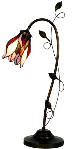 Lumilamp 5LL-8839 Tischleuchte Burolampe Art Deco Tiffany Stil Mehrfarbig34*24 * 72 cm / E14/max 1 * 40W dekoratives buntglas Tiffany Stil - Tiffany-art-glas-tisch-lampe